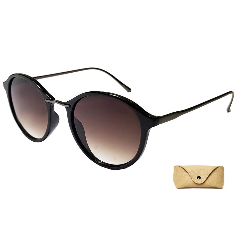 팬톤 여성 선글라스 RFFG51W, 렌즈(스모크), 프레임(블랙 + 건메탈), 케이스(랜덤발송)