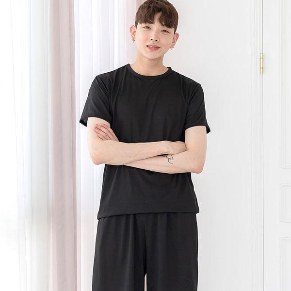 남성용 도트펀칭 반팔 잠옷 상하세트