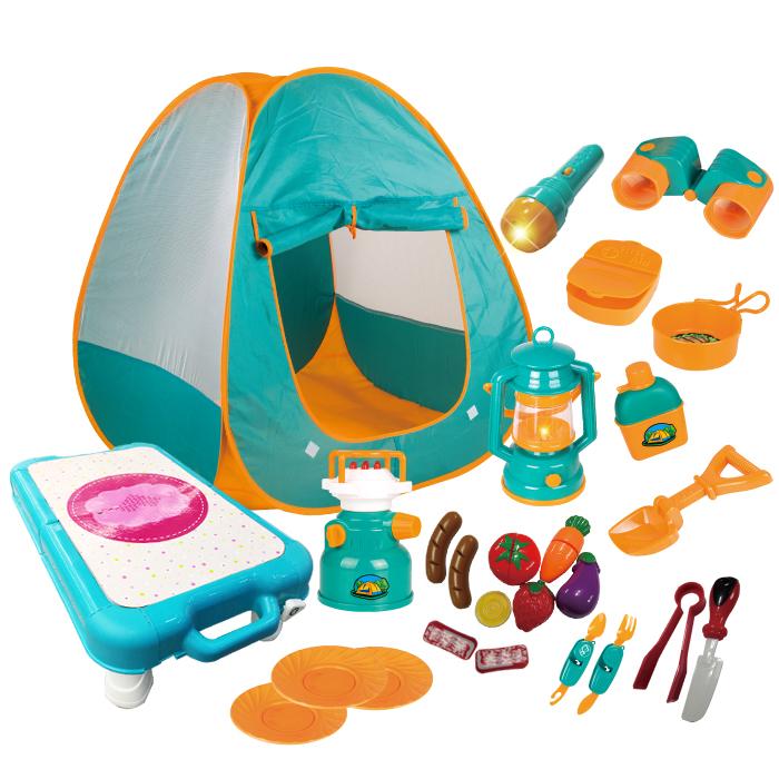 레츠고 리틀 캠핑 테이블 놀이 세트, 혼합색상