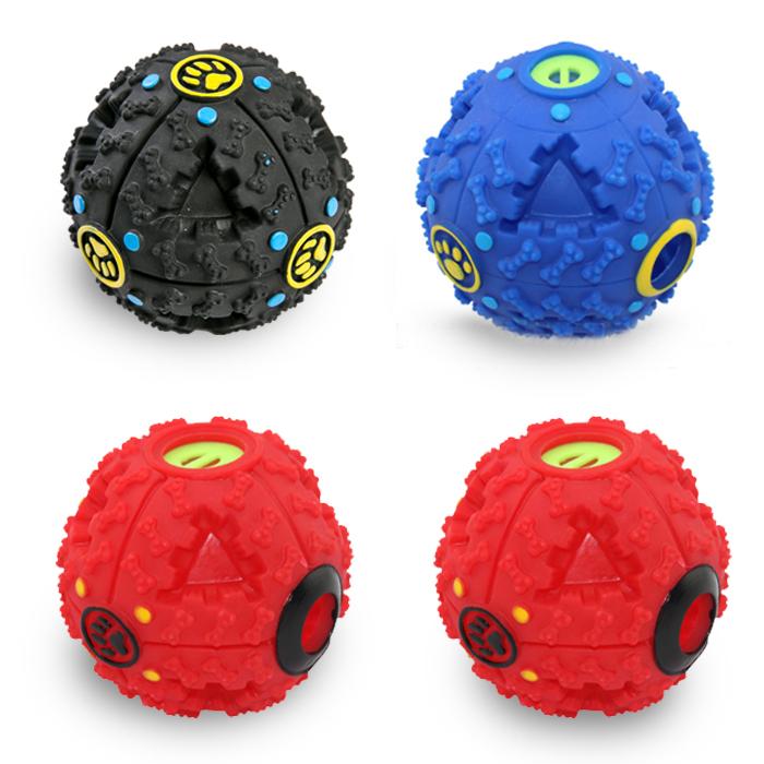 딩동펫 반려동물 타이어 간식볼 4p 세트 M 9.5cm, 블랙, 레드, 블루, 1세트