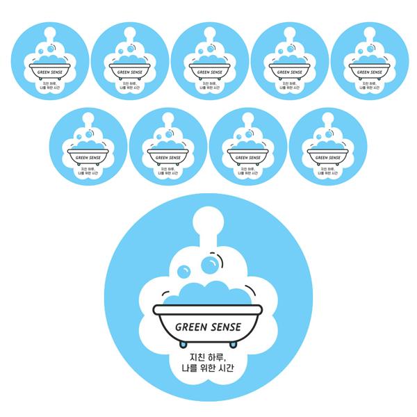 그린센스 반신욕 전용 스티커 온도계, 혼합색상, 10개