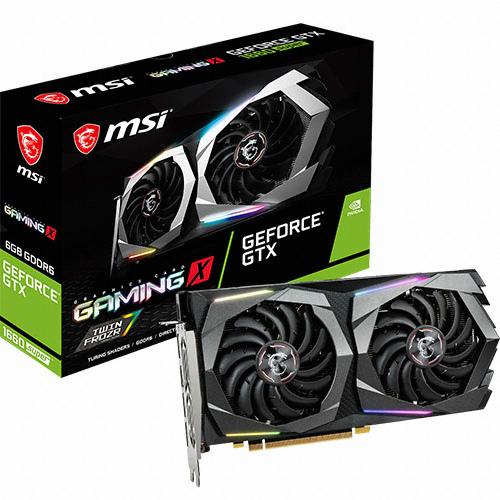 MSI 지포스 GTX 1660 SUPER 게이밍 X 그래픽 카드 D6 6GB 트윈프로져7, N1660SG