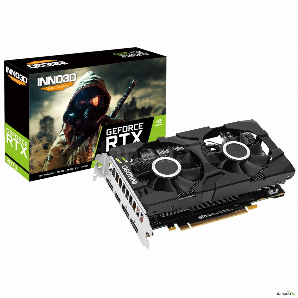 INNO3D 지포스 RTX 2070 D6 8GB 백플레이트 그래픽카드 INNO3D RTX2060 X2