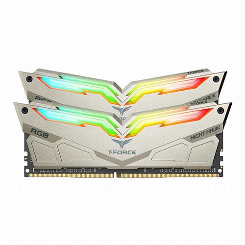 팀그룹 T Force DDR4 PC4-25600 CL14 Night Hawk Legend RGB 8GB 램 데스크탑용 2p, 단일상품