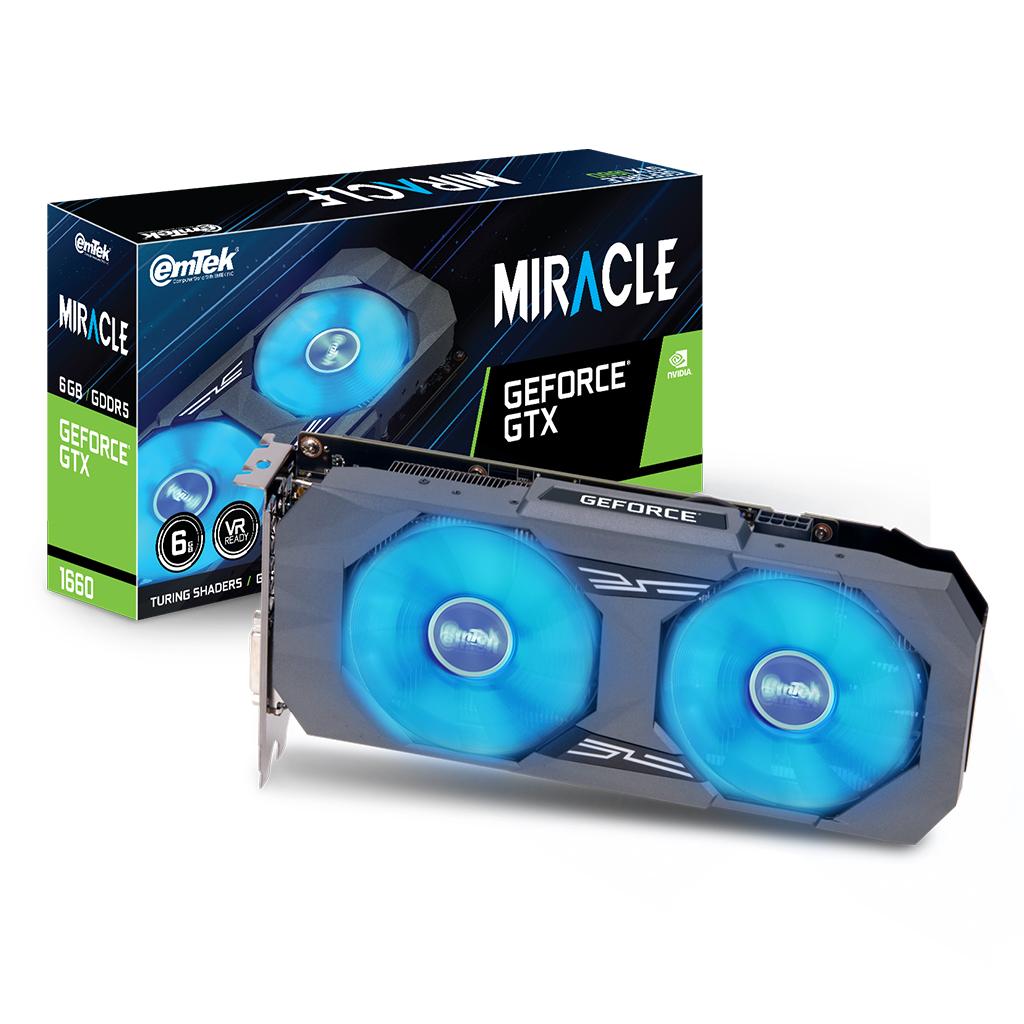 이엠텍 지포스 GTX 1660 MIRACLE D5 6GB 그래픽카드, 단일상품