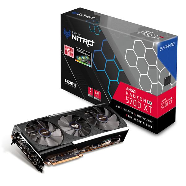 sapphire 라데온 RX 5700 XT NITRO+ Special Edition OC D6 8GB Tri-X 그래픽카드, 단일상품