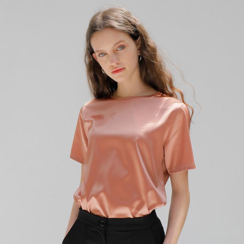 엽페 여성용 SILKY 반팔 티셔츠