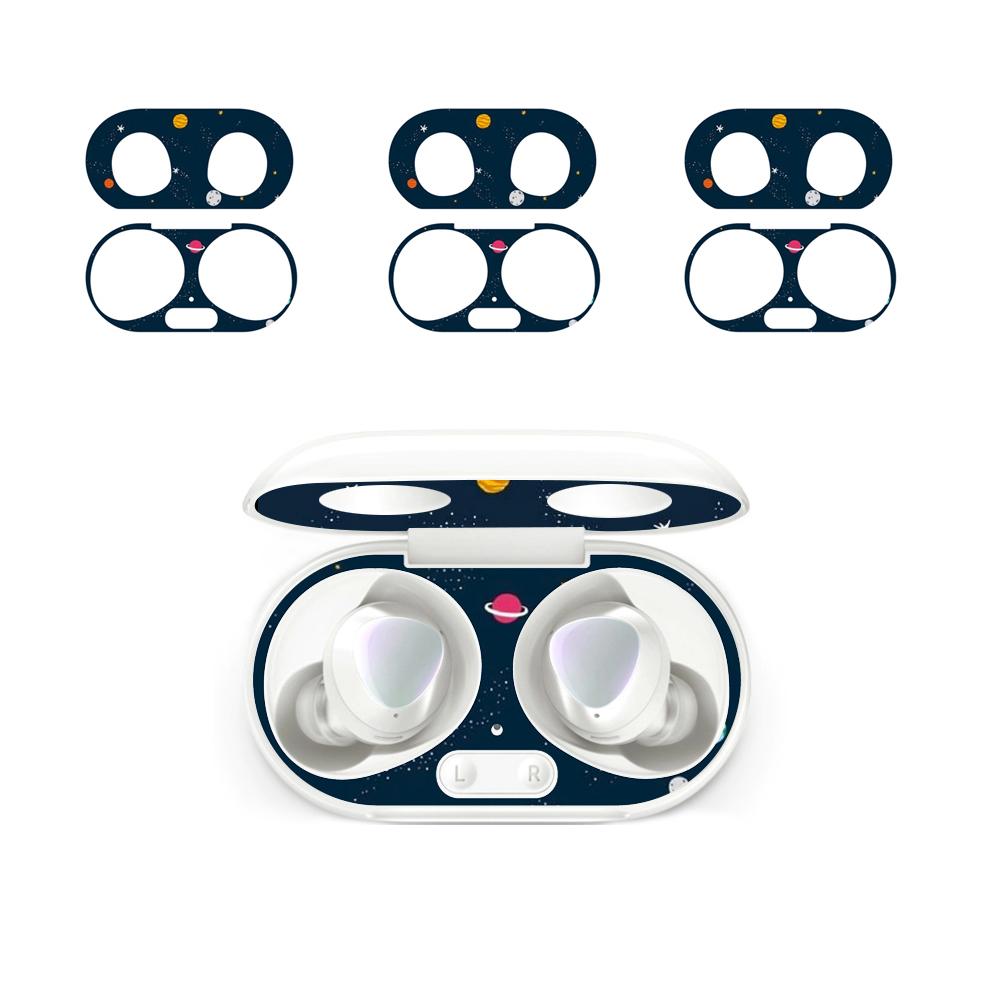 PULU 갤럭시버즈 플러스 철가루방지 스티커 4p, 우주, 단일상품