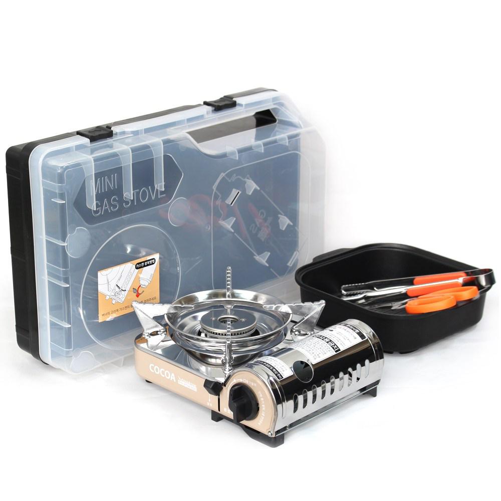 파이브스타 코코아 미니 가스버너 세트 MIT-8000+, 혼합색상, 1세트