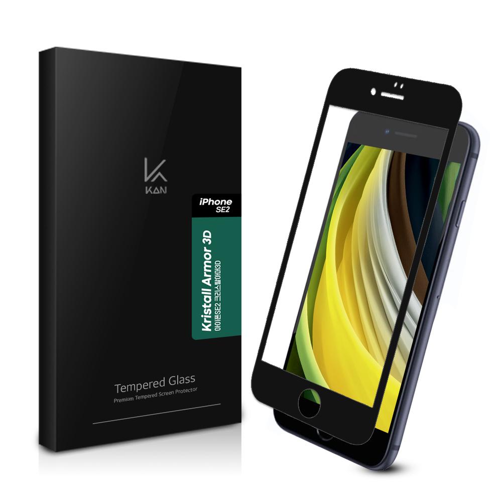 케이안 풀커버 3D 강화유리 휴대폰 액정보호필름, 1개