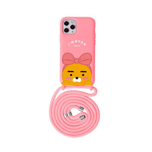 카카오프렌즈 까꿍 목걸이 컬러 소프트 젤리 휴대폰 케이스
