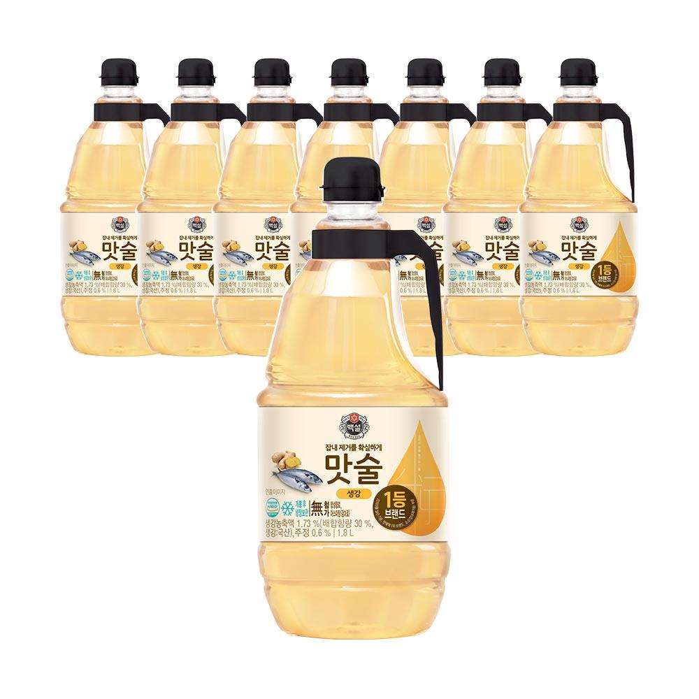 CJ제일제당 백설 생강 맛술, 1.8L, 8개