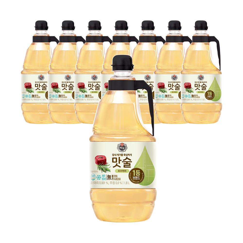 CJ제일제당 백설 로즈마리 맛술, 1.8L, 8개