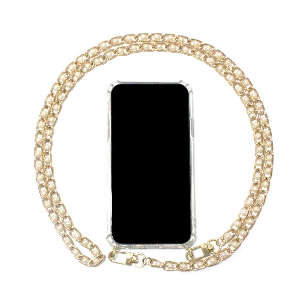 크리츠 댕글 진주 체인 목걸이 휴대폰 케이스