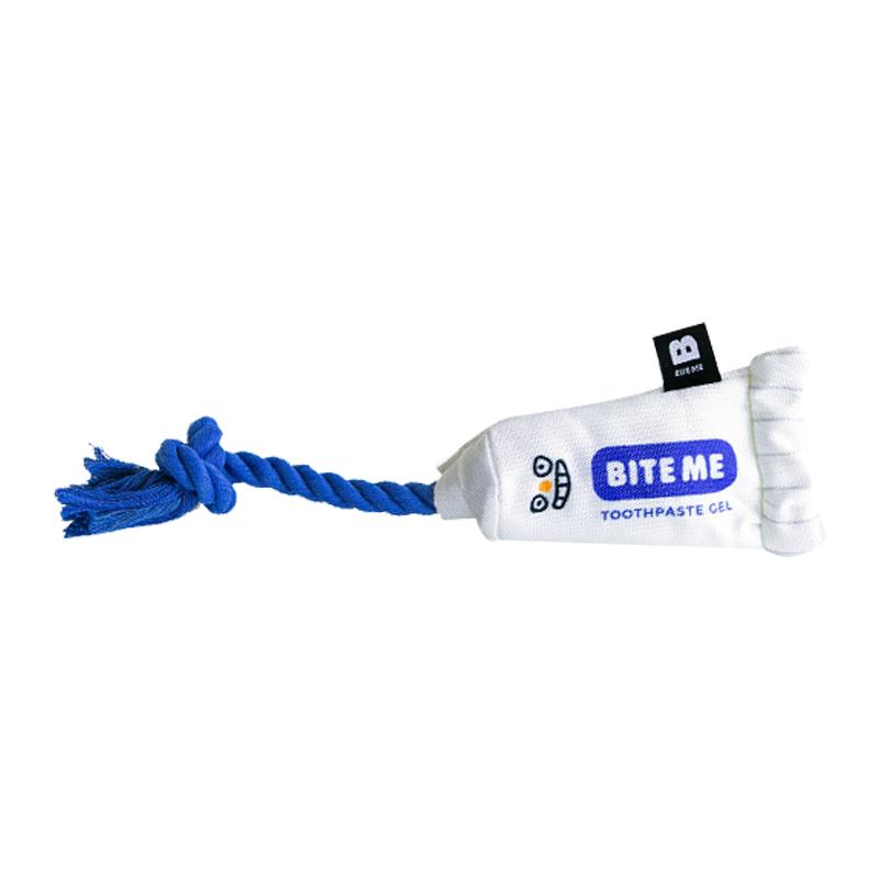 바잇미 강아지 터그놀이 치실로프 장난감, 혼합색상, 1개