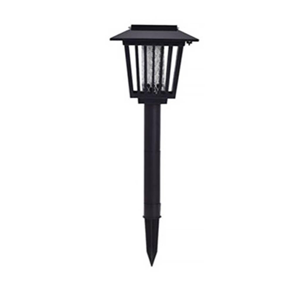elcom 태양광 LED 정원등 블랙사각 해충퇴치기, 혼합색상