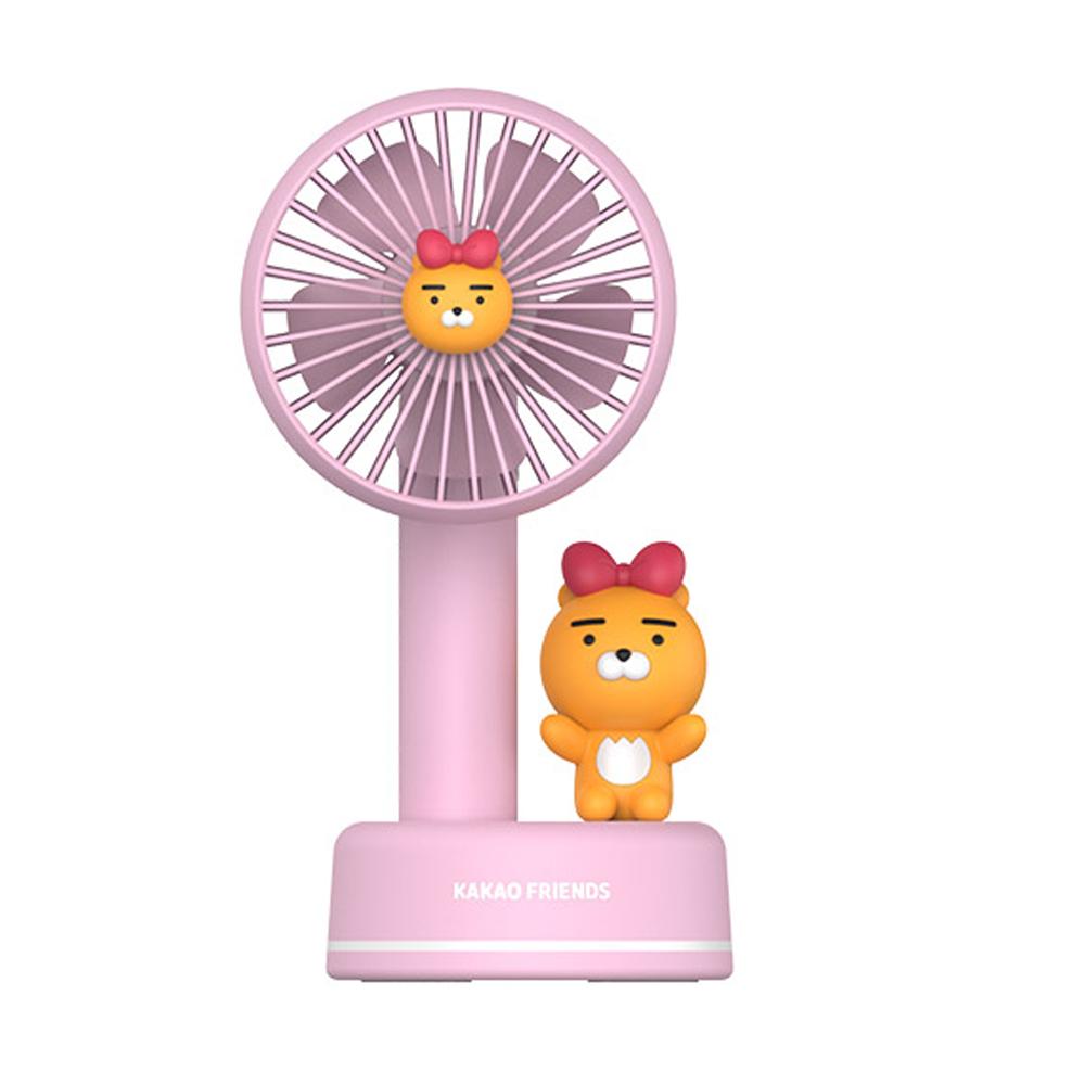 카카오프렌즈 썸머 블라스트 무선충전 선풍기 3세대, 리본라이언 (POP 1621007472)