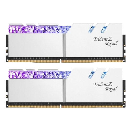 지스킬 DDR4 16GB TRIDENT Z ROYAL 램 데스크탑용 SILVER PC4-25600 CL16 2p