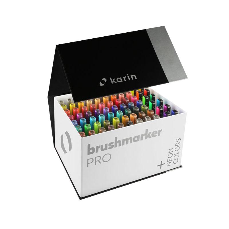 카린 프로 메가박스플러스 브러쉬 마카 72종 + 블렌더 3p세트, 72색, 1세트