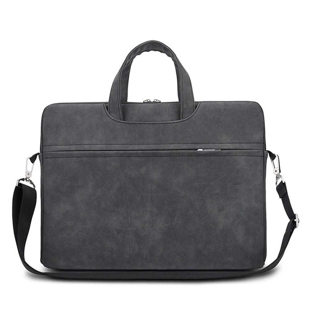 어깨끈 생활방수 노트북 파우치 가방 CP-01, 블랙