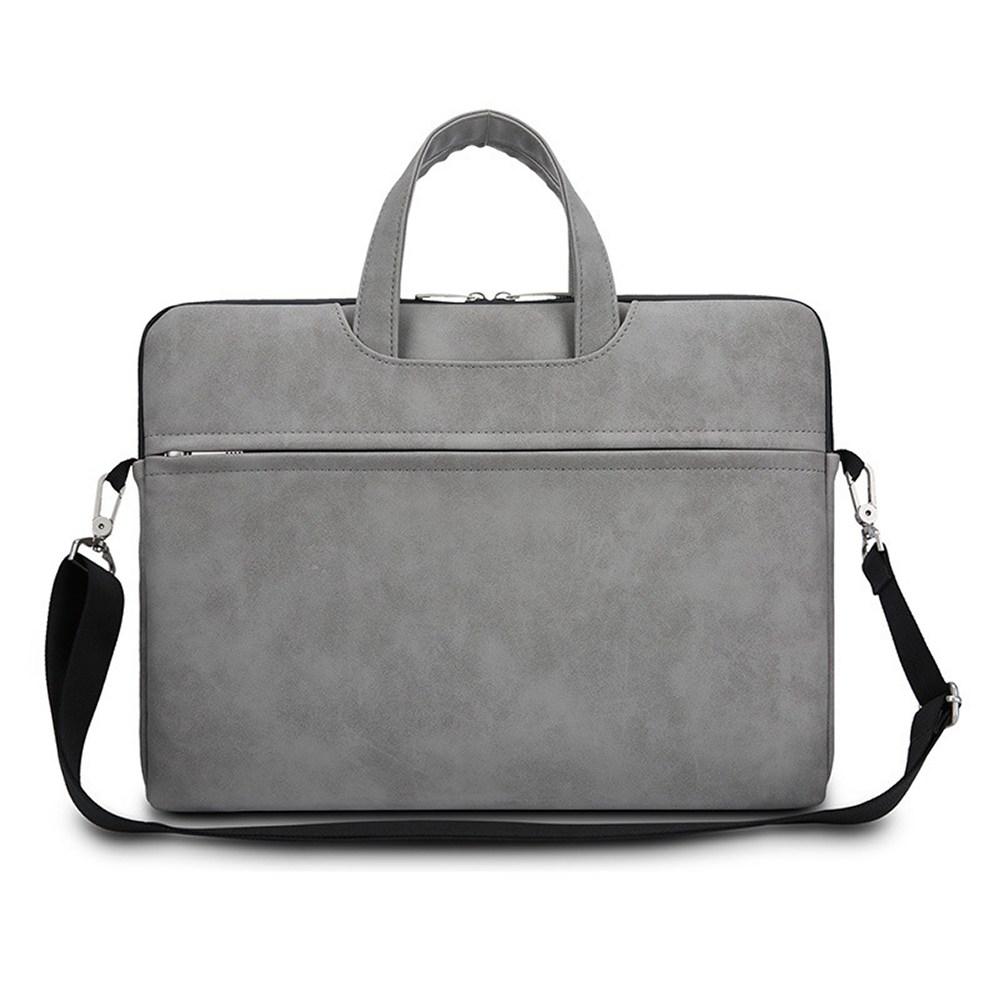어깨끈 생활방수 노트북 파우치 가방 CP-01, 그레이