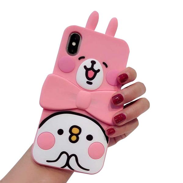 카나하이 핑크 리본 실리콘 휴대폰 케이스