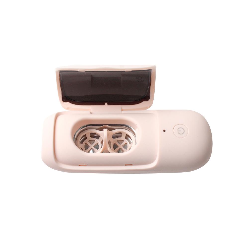 AG Cleaner 초음파 UV-C 자외선 살균 렌즈 세척기, 1개, 매트핑크