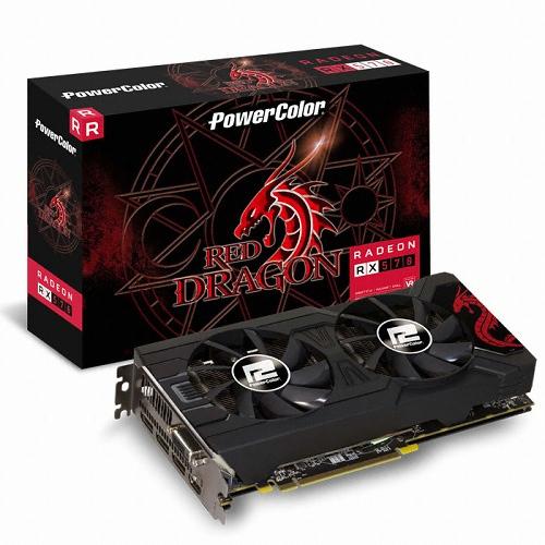 PowerColor 라데온 RX 570 레드드래곤 OC D5 4GB 백플레이트 그래픽카드, 단일상품