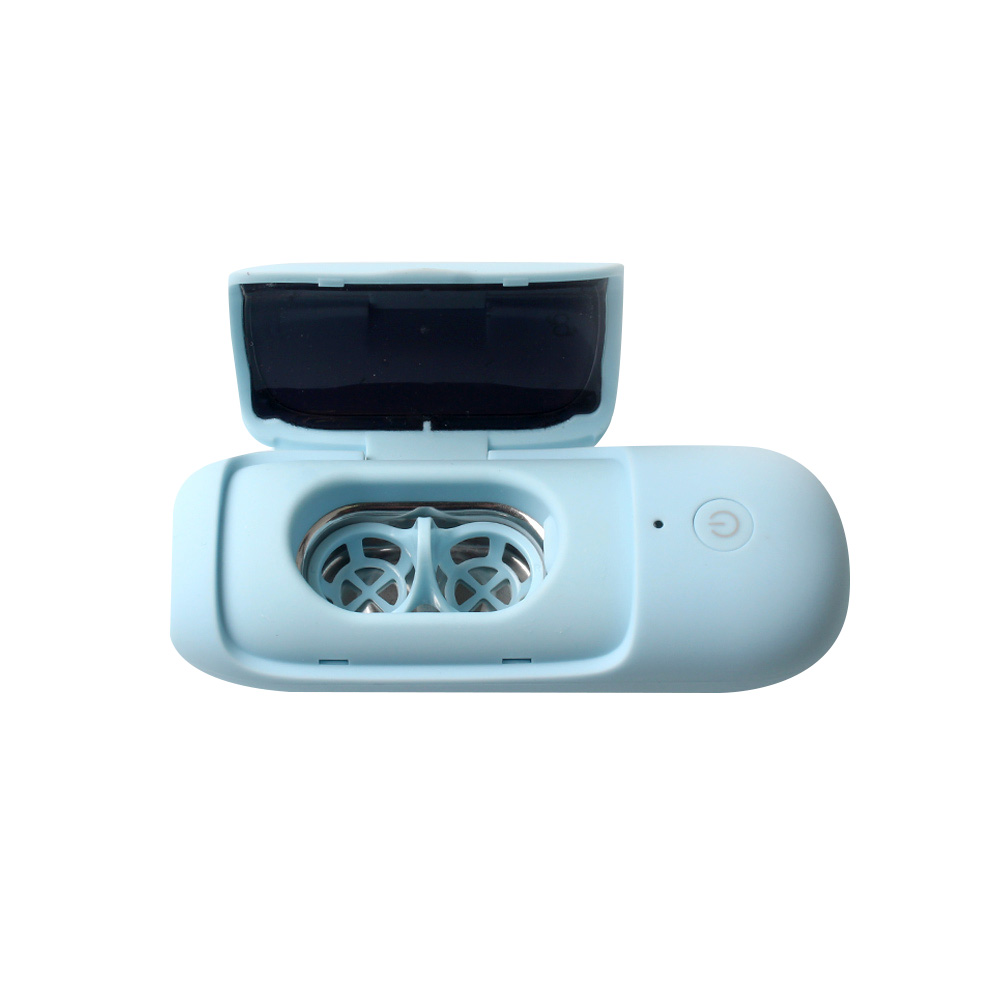 AG Cleaner 초음파 UV-C 자외선 살균 렌즈 세척기, 1개, 매트블루
