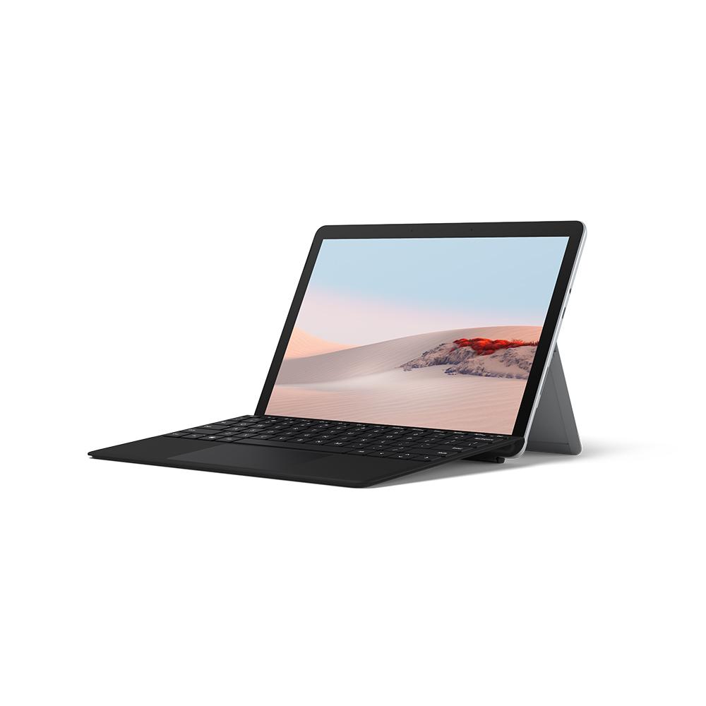 마이크로소프트 2020 Surface Go2 10.5 + 블랙 타입커버 패키지, 플래티넘, 펜티엄, 64GB, 4GB, WIN10 Home, STV-00009