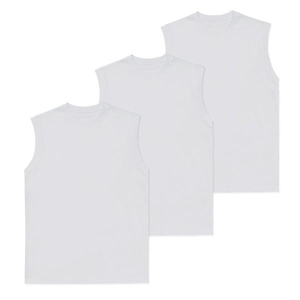 하비 데일리 순면 머슬 민소매 티셔츠 3p