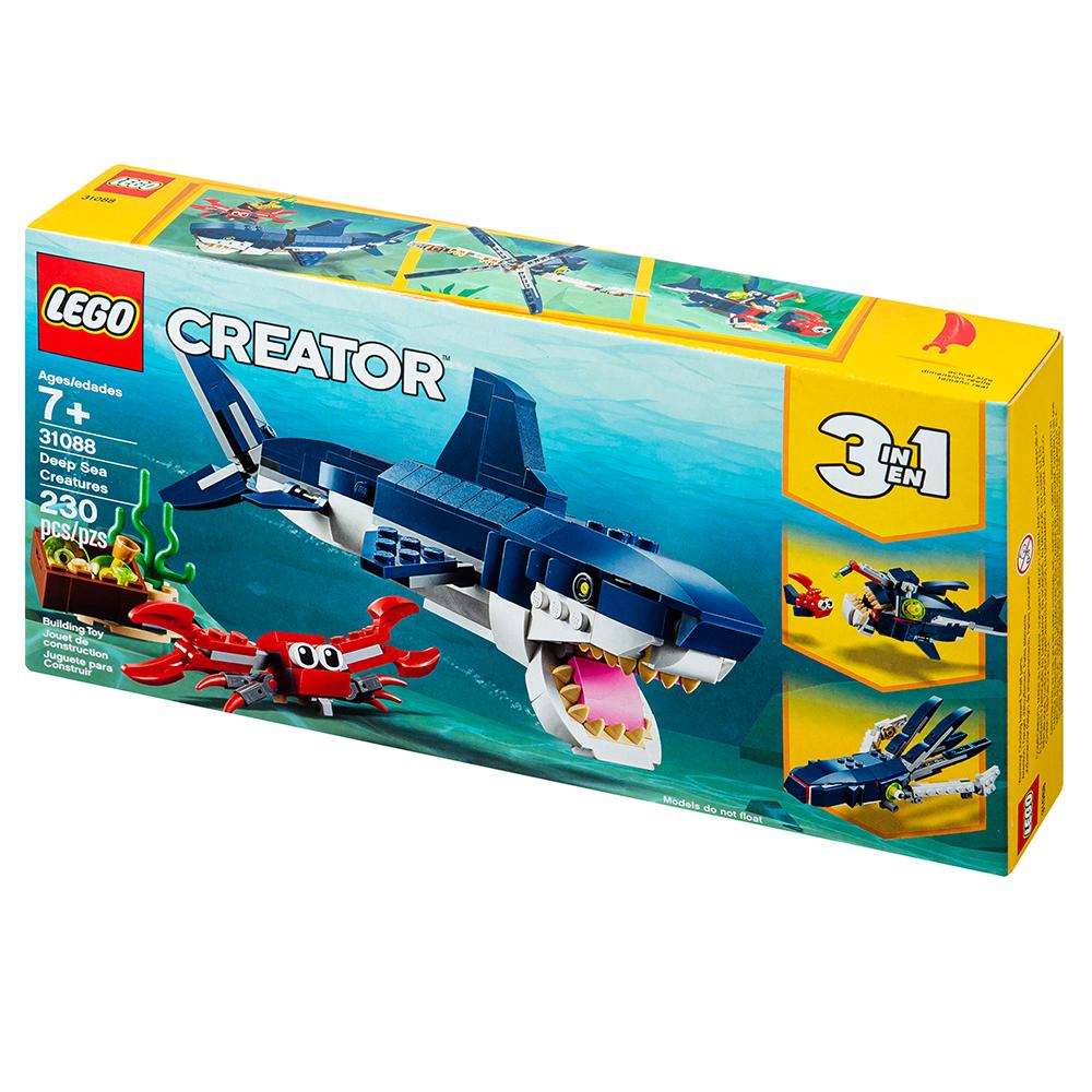 레고 크리에이터 바닷속 상어 블록놀이 31088, 혼합색상