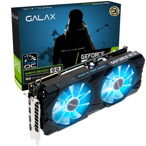 갤럭시 GALAX 지포스 RTX 2080 SUPER EX BLACK OC D6 8GB 그래픽카드, 단일상품
