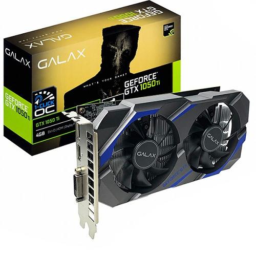 갤럭시 GALAX 지포스 GTX1050 Ti D5 4GB 그래픽카드 DUAL, 단일상품