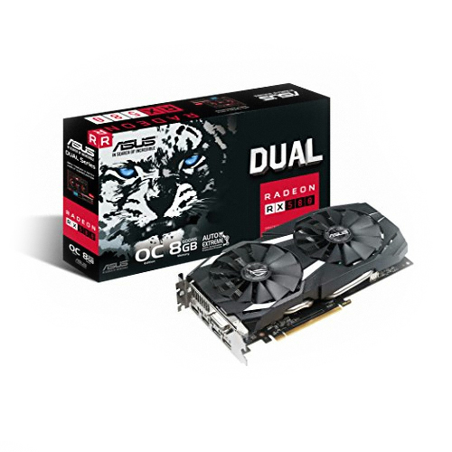 에이수스 라데온 그래픽카드 DUAL-RX580-O8G 8GB