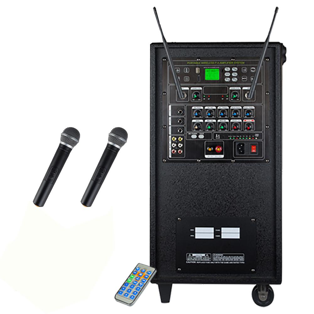 그레이스 충전식 무선 앰프 일체형 + 무선마이크 2p, EG-512