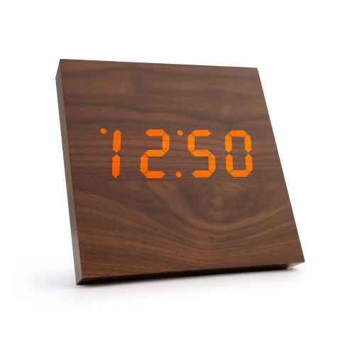 코비 사각형 LED 나무 벽걸이 디지털 무소음 우드 시계 AL100