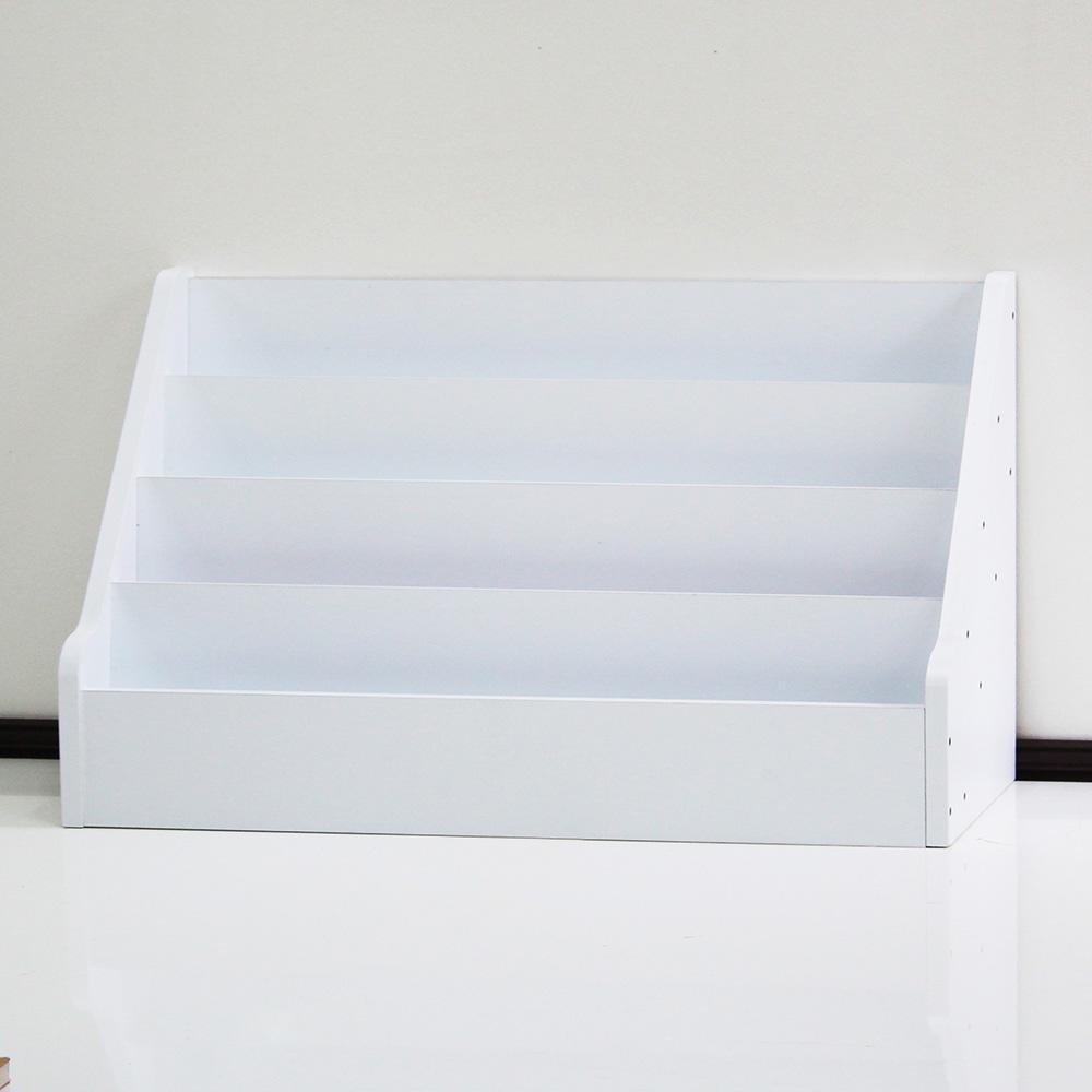 양지가구 4단 책장 800 + 마감 스티커 세트, 백색