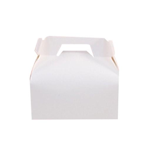 무지 조각케이크 손잡이 상자 소, 흰색, 50개