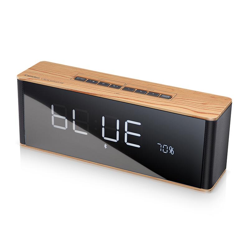 캔스톤 포모나우드 탁상용 블루투스 스피커 알람시계 LX-C4, 우드