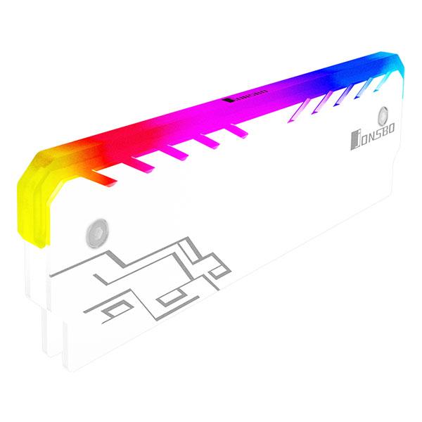 브라보텍 JONSBO NC-1 RGB 램 메모리 방열판 화이트, 단일상품