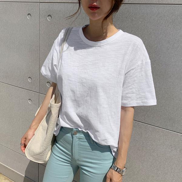 난닝구 여성용 빌리븐 뒷꼬임 반팔 티셔츠