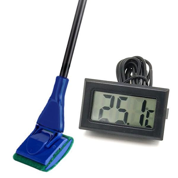 요기쏘 정글아쿠아 5in1 어항 청소 툴 세트 + 디지털 온도계, 1세트