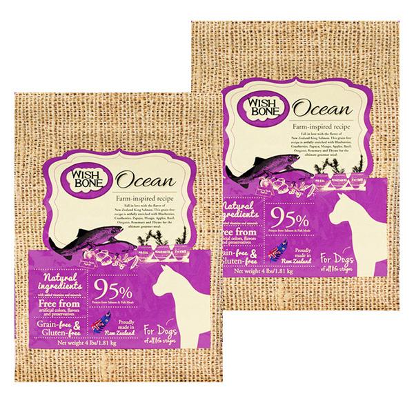 위시본 독 강아지 사료, 연어, 3.6kg