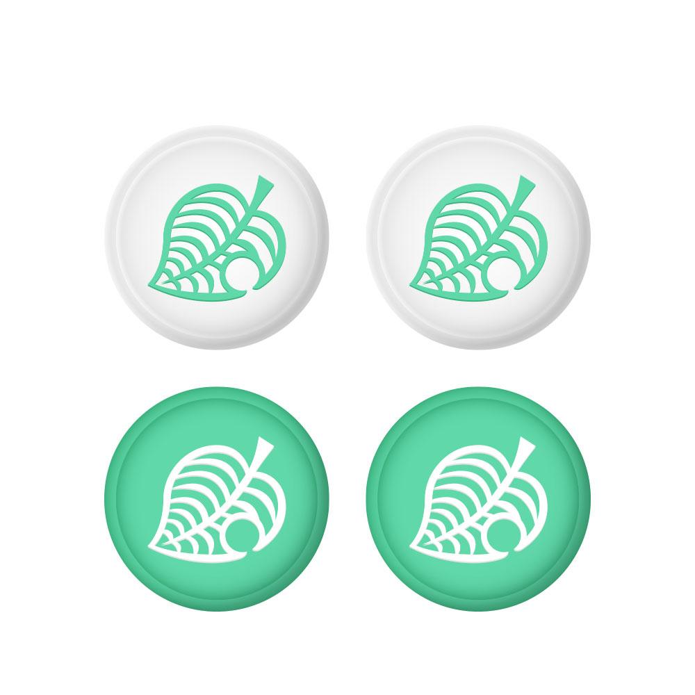 호후 닌텐도 스위치/스위치 라이트 조이콘 커버 동물의숲 나뭇잎 4p 세트, 단일상품, 1세트