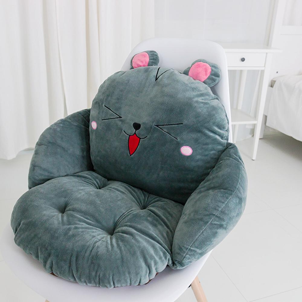 레토 캐릭터 등받이 쿠션 의자 방석, 마우스(LCC 01)