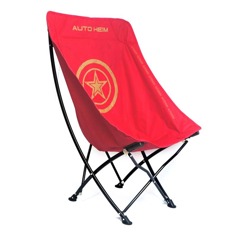 롱 컴포트 캠핑의자 + 수납 가방 세트, 레드, 1세트