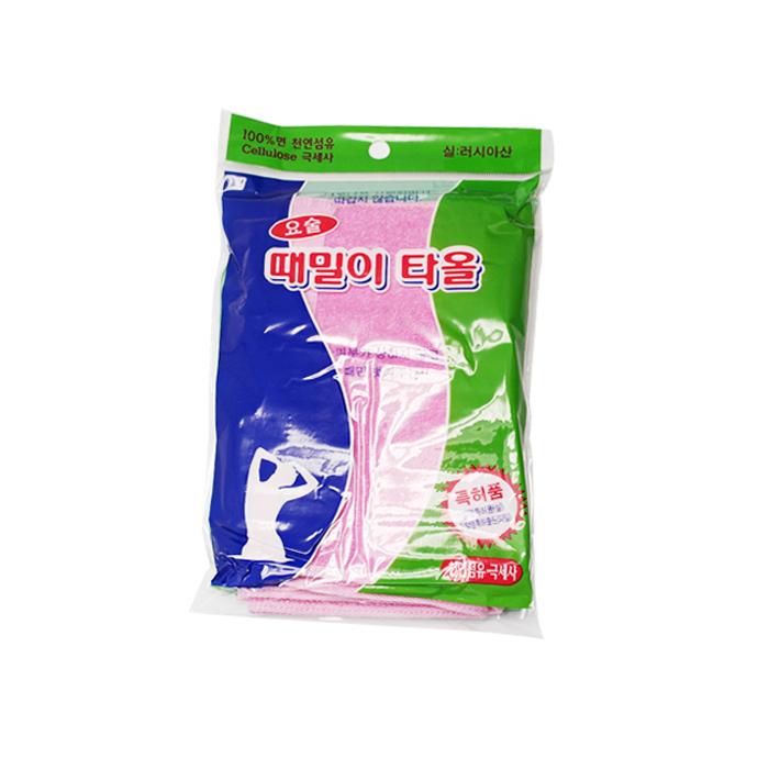 정준산업 요술 등밀이 타올, 핑크, 1개