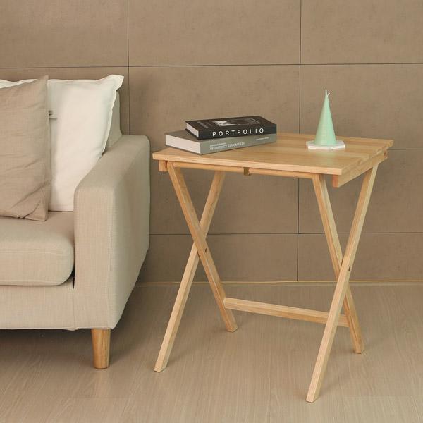 모노먼트 원목 접이식 테이블