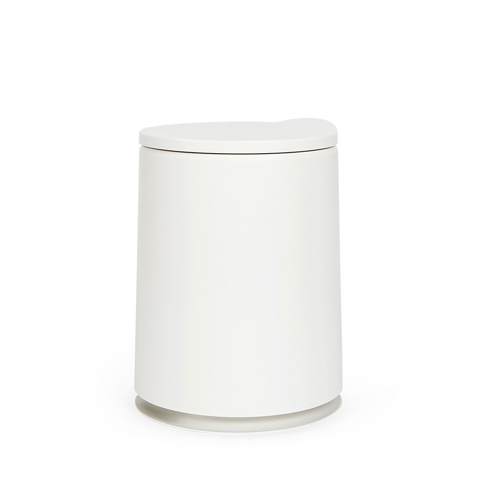 홈앤하우스 원터치 원형 휴지통 10L, 화이트, 1개